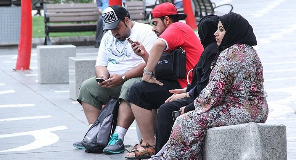 Ərəb turistlər Bakıda