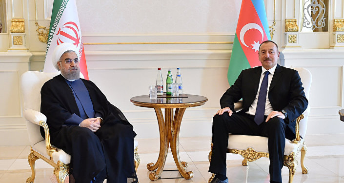 Встреча Президента Азербайджана Ильхама Алиева и Президента Ирана Хасана Роухани
