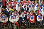 Rusiyanın paralimpiya üzrə yığma komandasının təntənəli qarşılanma mərasimi. Moskva, Şeremetyevo aeroportu. 18 mart 2014-cü il
