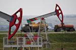 Нефтяные насосы в Уфе, Республика Башкортостан, Россия. 11 июля 2015 года
