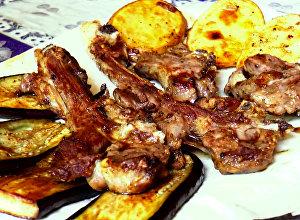 Daşların arasında hazırlanan kabab