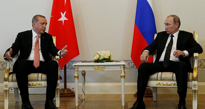 Встреча президентов Турции и России Реджепа Тайипа Эрдогана и Владимира Путина. Москва, 9 августа 2016 года