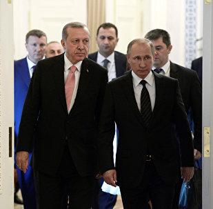 Встреча Владимира Путина и Реджепа Тайипа Эрдогана. Санкт-Петербург, 9 августа 2016 года