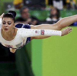 Художественная гимнастика, финал. Выступление Клаудии Фрагапэйн (Великобритания)