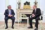 Президент РФ В. Путин встретился с президентом Армении С. Саргсяном