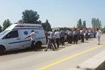 Bakı-Qazax yolunun Ucar rayonu ərazisindən keçən hissəsində piyadanın ölümü ilə nəticələnən yol-nəqliyyat hadisəsi baş verib