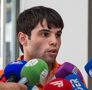 Азербайджанский боксер Эльвин Мамишзаде. Архивное фото