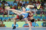 Греко-римская борьба, до 59 кг, мужчины.1/4 финала. Поединок Ровшана Байрамова и Джесси Тильке (США)