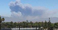 Kaliforniya ştatının San-Bernardino qəsəbəsində baş verən meşə yanğını