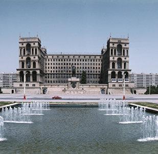 Здание Дома правительства, Азербайджанская ССР. 1979 год