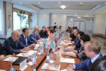 В Астане руководители железнодорожных администраций Казахстана, Азербайджана и Грузии встретились с грузоотправителями, крупнейшими операторами и грузовыми компаниями Казахстана