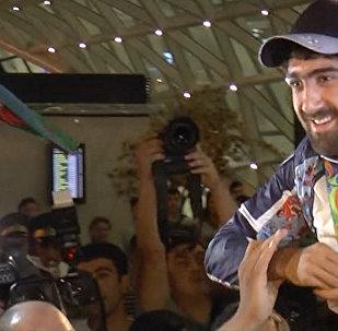 Азербайджанские олимпийцы вернулись на родину