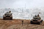 Tank birlikləri Suriya sərhədini keçərək İŞİD mövqelərini bombalamağa başlayıb