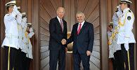 Turkish Prime Minister Binali Yildirim (center R) meets with U.S. Vice President Joe Biden in Ankara, Turkey, August 24, 2016.