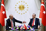 Türkiyə prezidenti Rəcəb Tayyib Ərdoğan dünən paytaxt Ankaradakı iqamətgahında Birləşmiş Ştatların vitse-prezidenti Co Baydeni qəbul edib