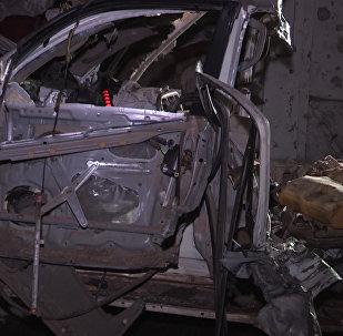 Нападение боевиков на ресторан в Сомали. Кадры с места взрыва