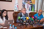 Milli Olimpiya Komitəsinin vitse-prezidenti Çingiz Hüseynzadənin mətbuat konfransı