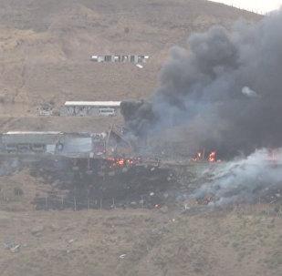 Теракт в Джизре: дымящиеся руины здания полиции на юго-востоке Турции