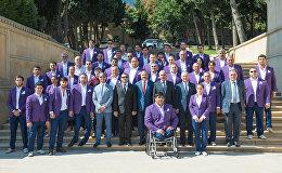 Встреча с азербайджанскими спортсменами-участниками летних Паралимпийских игр 2016 года