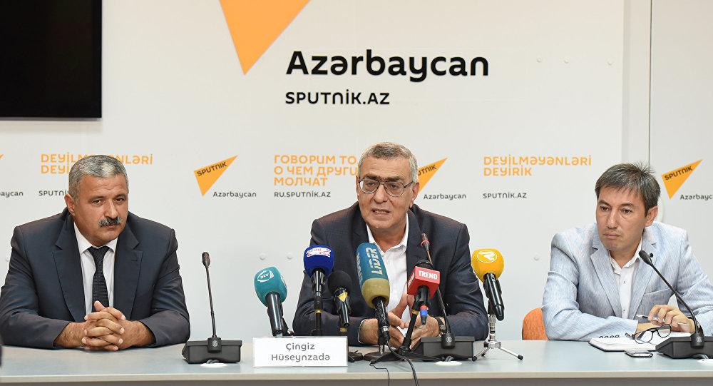 Пресс-конференция вице-президента Национального Олимпийского Комитете Азербайджана Чингиза Гусейнзаде.
