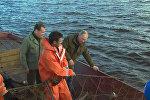Путин и Медведев прошли на катере по озеру Ильмень и отведали рыбацкой ухи