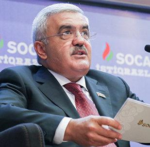 Президент SOCAR Ровнаг Абдуллаев на презентации, посвященной продаже первых пятилетних облигаций Госнефтекомпании АР