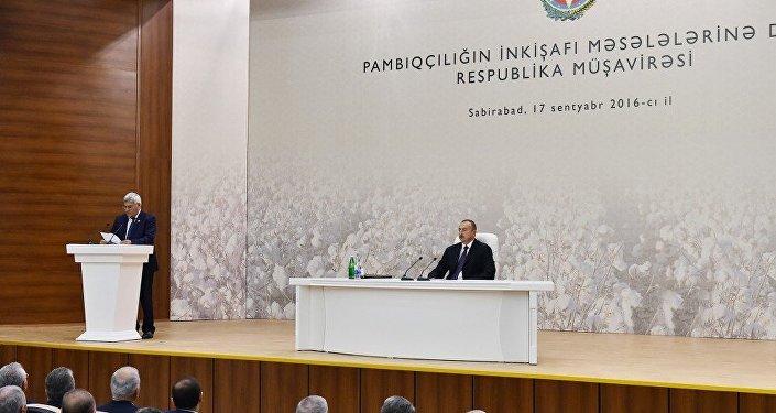 Prezident pambıqçılığın inkişafına dair respublika müşavirəsi keçirir