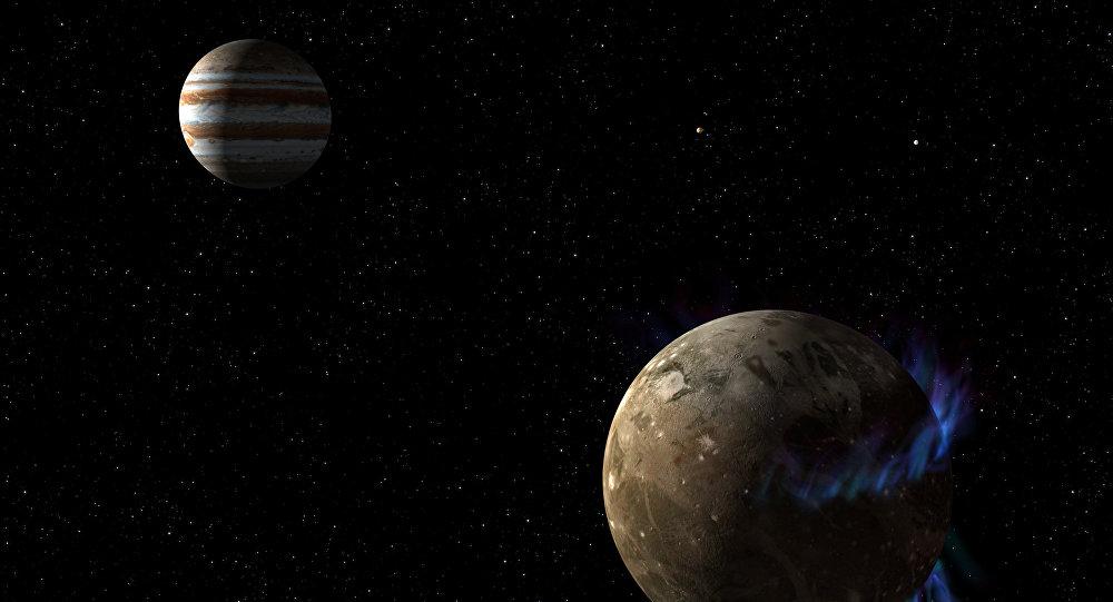 Yupiter planeti və onun ən böyük peyki Qanimed