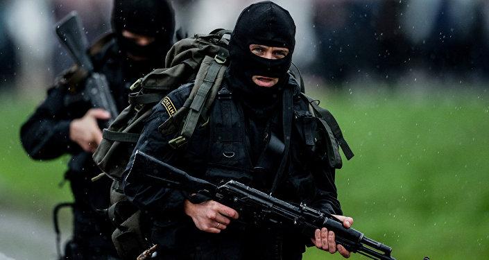Rusiya Daxili İşlər Nazirliyinin əməkdaşları, arxiv şəkli