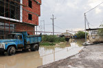 Затопленные улицы поселка Забрат