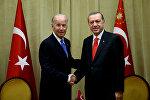Türkiyə prezidenti Rəcəb Tayyib Ərdoğan ABŞ-ın vitse-prezidenti Co Baydenlə görüşüb