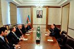 Встреча главы МИД Азербайджана с сопредседателями МГ ОБСЕ, 16 февраля 2015 года