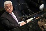 Fələstin prezidenti Mahmud Abbas BMT-nin 71-ci Baş Assambleyasında çıxışı zamanı, 22 sentyabr 2016-cı il