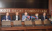 Пресс-конференция с председателем ЦИК Азербайджана Мазахиром Панаховым в преддверии референдума