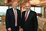 Tramp İsrailin baş naziri Benyamin Netanyahu ilə