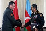 Между министерствами обороны Азербайджана и Беларуси подписан план сотрудничества на 2017 год