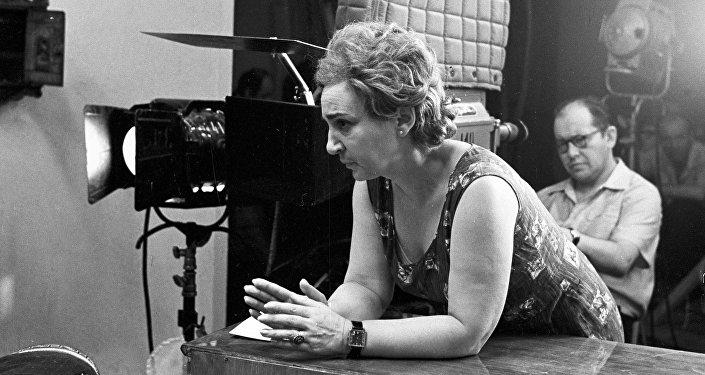 Режиссер-постановщик фильма Семнадцать мгновений весны Татьяна Лиознова на съемочной площадке, 19 сентября 1973 года
