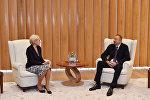 Ильхам Алиев принял делегацию, возглавляемую заместителем председателя Правительства России