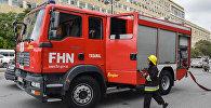 Пожарная машина МЧС Азербайджана на месте события, фото из архива