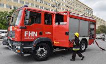 Пожарный расчет МЧС Азербайджана, фото из архива