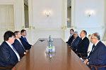 Президент Азербайджанской Республики Ильхам Алиев принял президента УЕФА Александера Чеферина