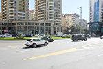 Yasamal rayonunda, Dövlət Statistika Komitəsinin qarşısında yerləşən dairəvi yol