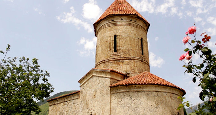 Албанская церковь в деревне Киш Шекинского района