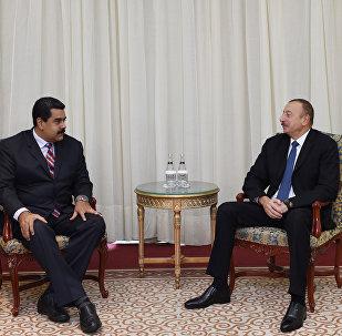 İlham Əliyevin və Venesuela Prezidenti Nikolas Maduronun görüşü olub
