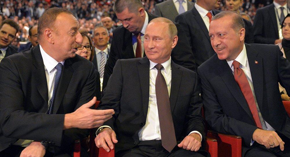Image result for Ərdoğan Putin Əliyev