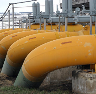 Участок газопровода, архивное фото