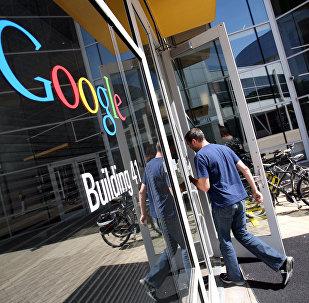 Штаб-квартира Google в округе Маунтин-Вью, штат Калифорния, США