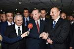 """Azərbaycan və Türkiyə prezidentləri """"Space"""" televiziyasının müxbirinin sualını cavablandırıblar"""