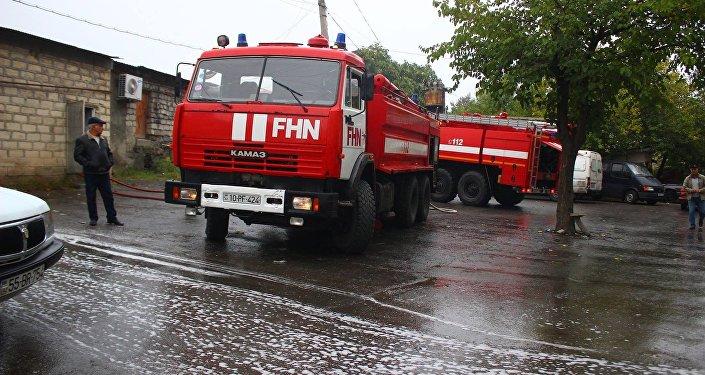 Пожарные машины МЧС Азербайджана