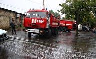 Пожарные машины МЧС Азербайджана на месте события